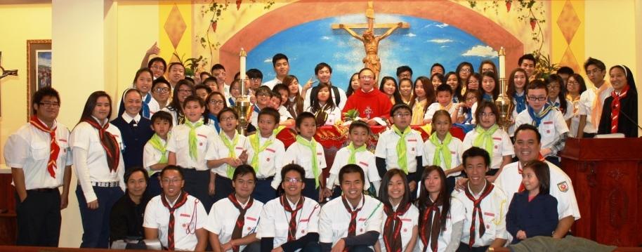 Hình Ảnh Thiếu Nhi Thánh Thể Đoàn Tôma Thiện Las Vegas ngày 24/11/2013